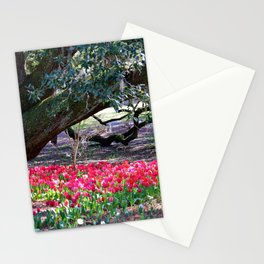 Tulips Under Live Oaks Stationery Cards
