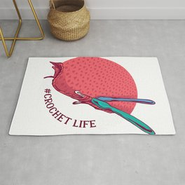 Crochet Life yarn knit hook braids hair book cotton T-Shirt Rug