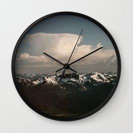 Alaska Snow Capped Mountains Wall Clock