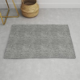 Elephant Print black / gray Rug