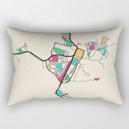 Colorful City Maps: Alice Springs, Australia Rectangular Pillow