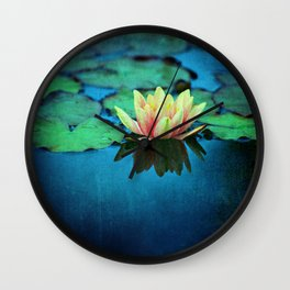 waterlily textures Wall Clock