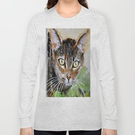 The Curious Tabby Cat Long Sleeve T-shirt