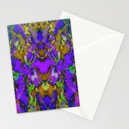 Blue colour reaction Stationery Cards