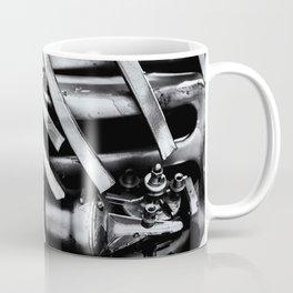 Machine Part BNW Abstract III Poster Print Coffee Mug