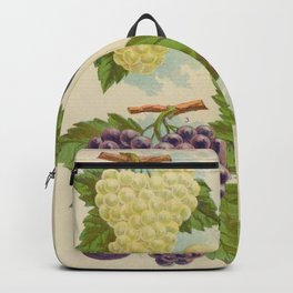 Seed Catalog Garden Floral Fruit Grapes 28 Backpack