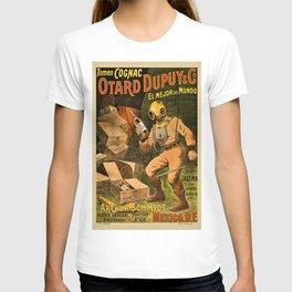1910 Cognac Otard Dupuy Cornac Advertisement Poster T-shirt
