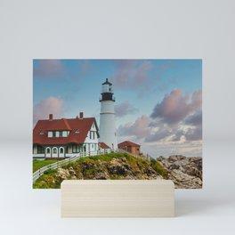 Portland Head Lighthouse at Dusk Mini Art Print