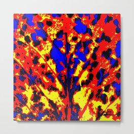 Fire Tree Pop Art Metal Print