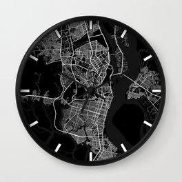 Guayaquil City Map Ecuador - Full Moon Wall Clock