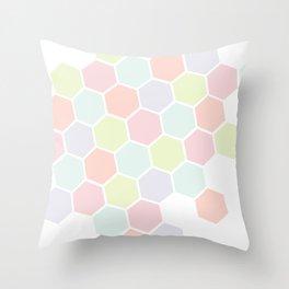 Pastel Buzz Throw Pillow