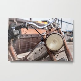Moped boat Metal Print
