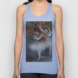 Two Dancers Entering The Stage By Edgar Degas | Reproduction | Famous French Painter Unisex Tank Top