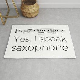 I speak saxophone Rug