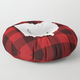 Ohio is Home - Buffalo Check Plaid Floor Pillow