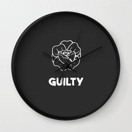 Guilty // Rose Wall Clock