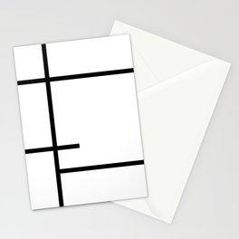 Minimalist Black Lines Art Stationery Cards