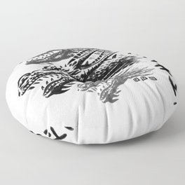 Waterbushed Three-Headed King Floor Pillow