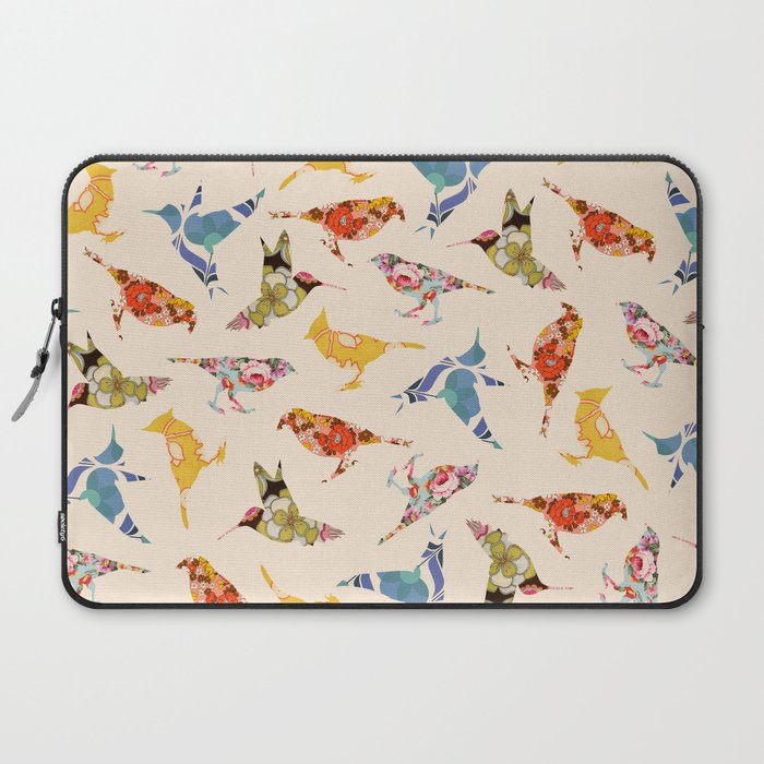 Vintage Wallpaper Birds Laptop Sleeve By Notsniw Society6