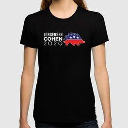 Libertarian Porcupine Jo Jorgensen Cohen 2020 print T-shirt
