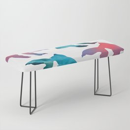 Pattern Oil Painting Abstract Tropical Fish Bench