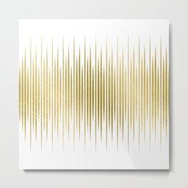 Linear Gold Metal Print