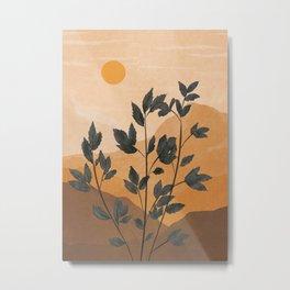 Plant Under a Dune Metal Print