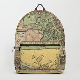 Vintage Map Print - 1740 map of Berlin Backpack