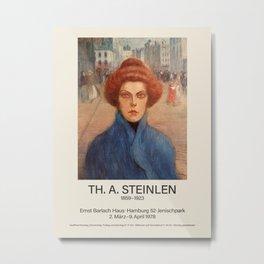 Théophile Steinlen. Exhibition poster for The Ernst Barlach House in Hamburg, 1978. Metal Print