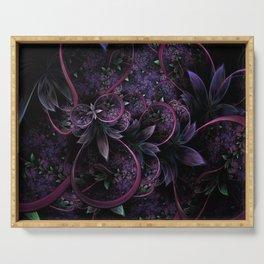 Foliage - Raw Fractal - Purple - Manafold Art Serving Tray