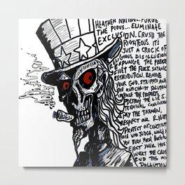 Executive Disorder Antichrist Agenda Art Metal Print