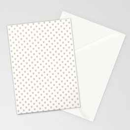 Mini Gold Metallic Faux Foil Photo-Effect Bees on White Stationery Cards
