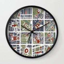 Urban fragments I of NewYork, Paris, London, Berlin, Rome and Seville Wall Clock