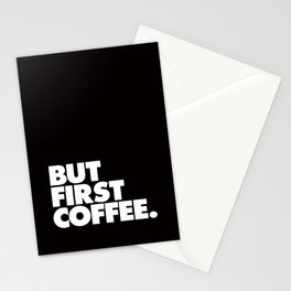 But First Coffee Typography Poster Black and White Office Decor Wake Up Espresso Bedroom Posters Stationery Cards