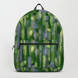 Brushstrokes in Green Backpack