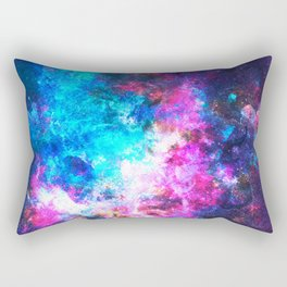 Colorful Watercolor Abstract background. Multicolor psychedelic pink blue neontexture tie dye Rectangular Pillow