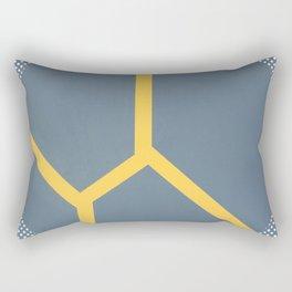 To Bee Or Not - dot circle graphic Rectangular Pillow