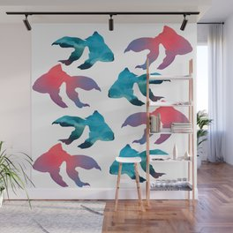 Pattern Oil Painting Abstract Tropical Fish Wall Mural