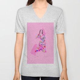 Floral Dress no 1 Unisex V-Neck