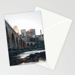 Minneapolis Minnesota Skyline Sunset Stationery Cards