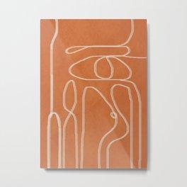 Abstract Line 1 Metal Print
