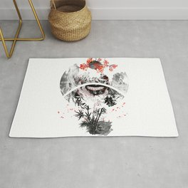 Sign Landscape Sakura dawn Rug