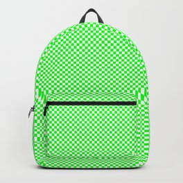 Green and white squares Backpack