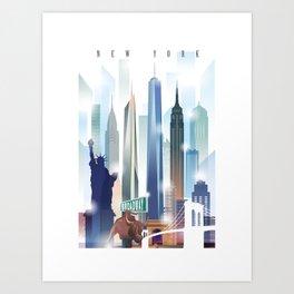 New York City Skyline Kunstdrucke