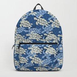 Honu Sea Turtle Hawaiian Tapa  Backpack