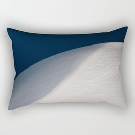 Abstract Snow Pile in Blue Hour Rectangular Pillow