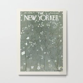 "Cover of "" The new Yorker"" magazine. Mar. 30 1957. Metal Print"
