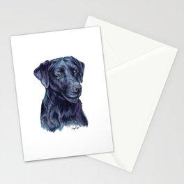 Black Labrador Retriever - Dog Portrait Stationery Cards