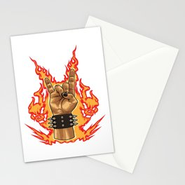 Devil Horns Sign - Heavy Metal Festival Gesture Stationery Cards