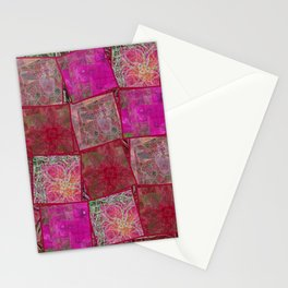 Ardor Collage (Pink & Red) Stationery Cards